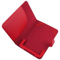Red Leather Case for Barnes & Noble Nook Color - Thumbnail 1