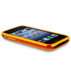 Orange Flower/ Butterfly TPU Rubber Skin Case for Apple iPhone 3G/ 3GS