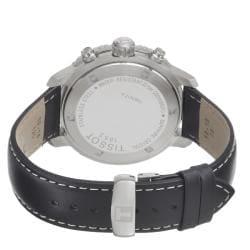 Tissot Men's 'PRS 200' Black Chronograph Dial Black Strap Watch