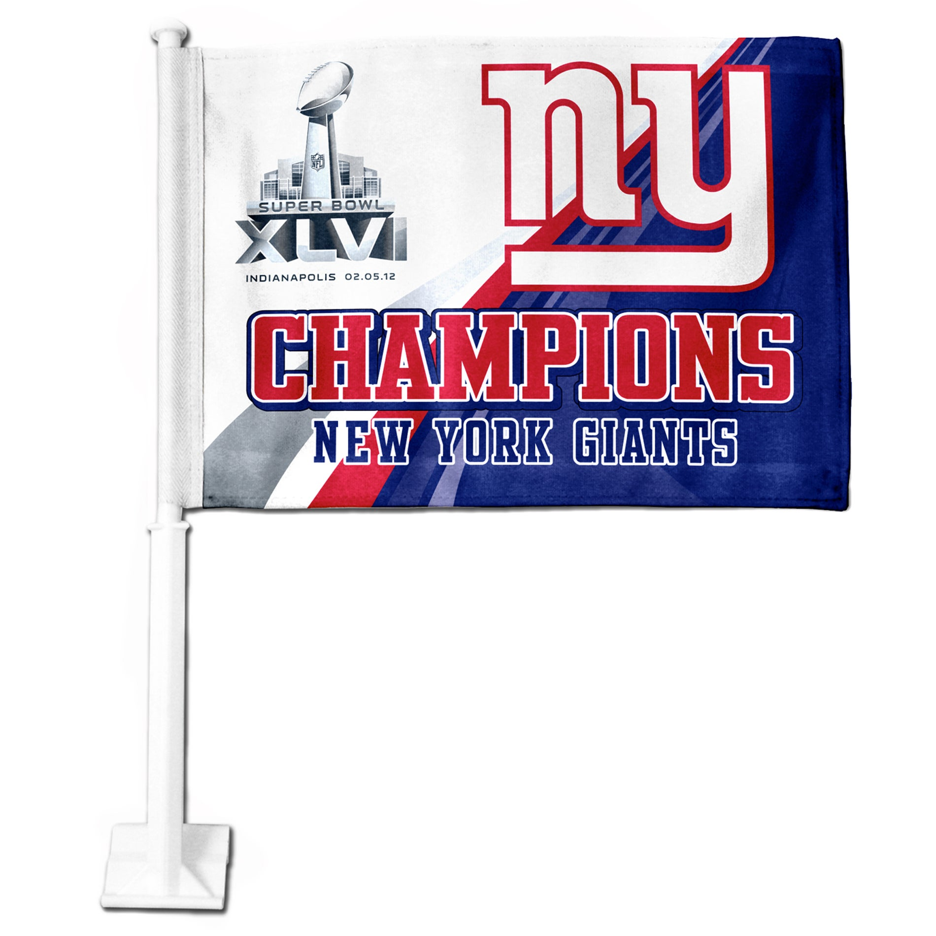 New York Giants Super Bowl XLVI Champion Car Flag
