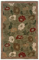 Hand-tufted Sovereignty Sage Rug (5' x 8')