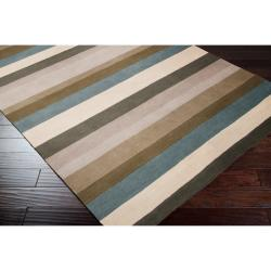 Hand-tufted Casual Multi Striped Valle Wool Rug (8' x 10')