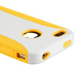 Yellow TPU/ White Hard Hybrid Case for Apple iPhone 4/ 4S