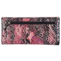 Kenneth Cole Reaction Women's Snake Print Slim Clutch