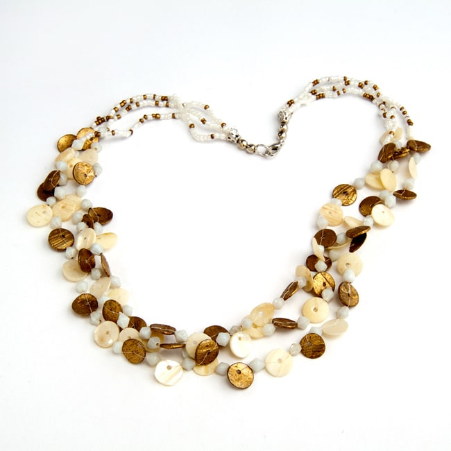 Brass Natural Shell Necklace (India)