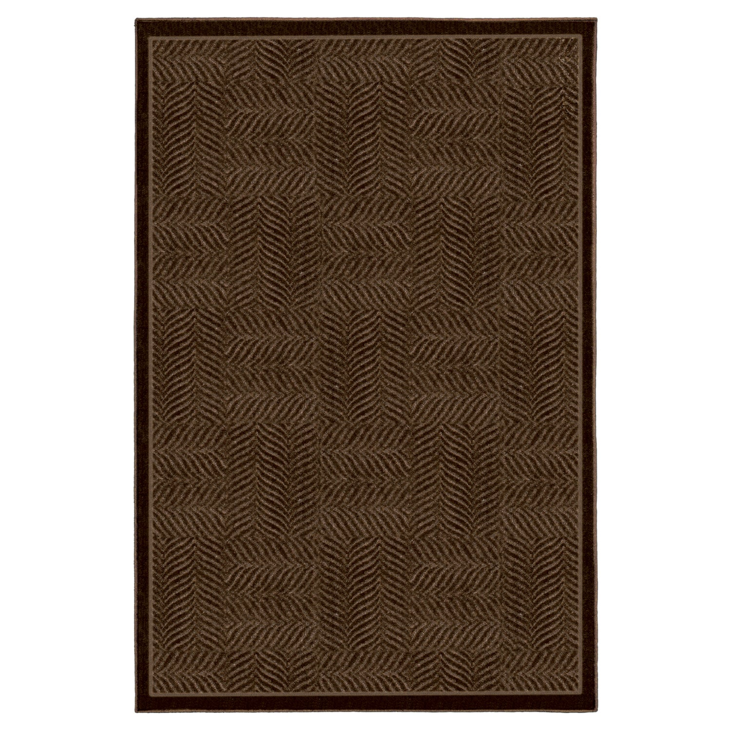Tiger Patch Mink Brown Rug (8' x 10') - Thumbnail 0