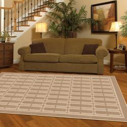 New Spin Clay Beige Rug (5' x 8')