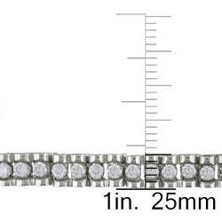 Miadora 10k White Gold 3/4ct TDW Diamond Tennis Bracelet - Thumbnail 2