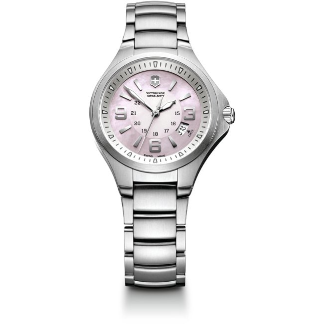 Swiss Army Women's Base Camp Pink Mother of Pearl Dial Watch