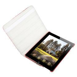 Pink Crocodile Skin 360-degree Swivel Leather Case for Apple iPad 2 - Thumbnail 2