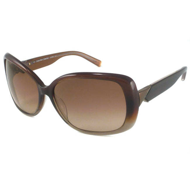 Calvin Klein CK7787S Women's Brown Gradient Rectangular Sunglasses