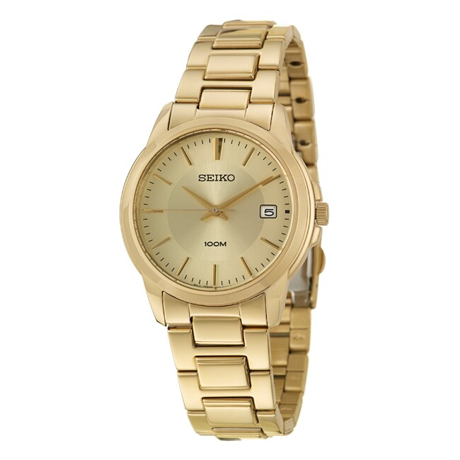 Seiko Men's 'Bracelet' Yellow Goldplated Stainless Steel Quartz Watch