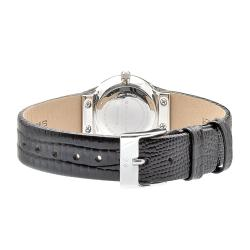 Skagen Women's Black Leather Watch