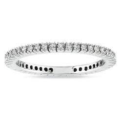 Miadora 14k White Gold 1/3ct TDW Diamond Eternity Ring (G-H, I1-I2)