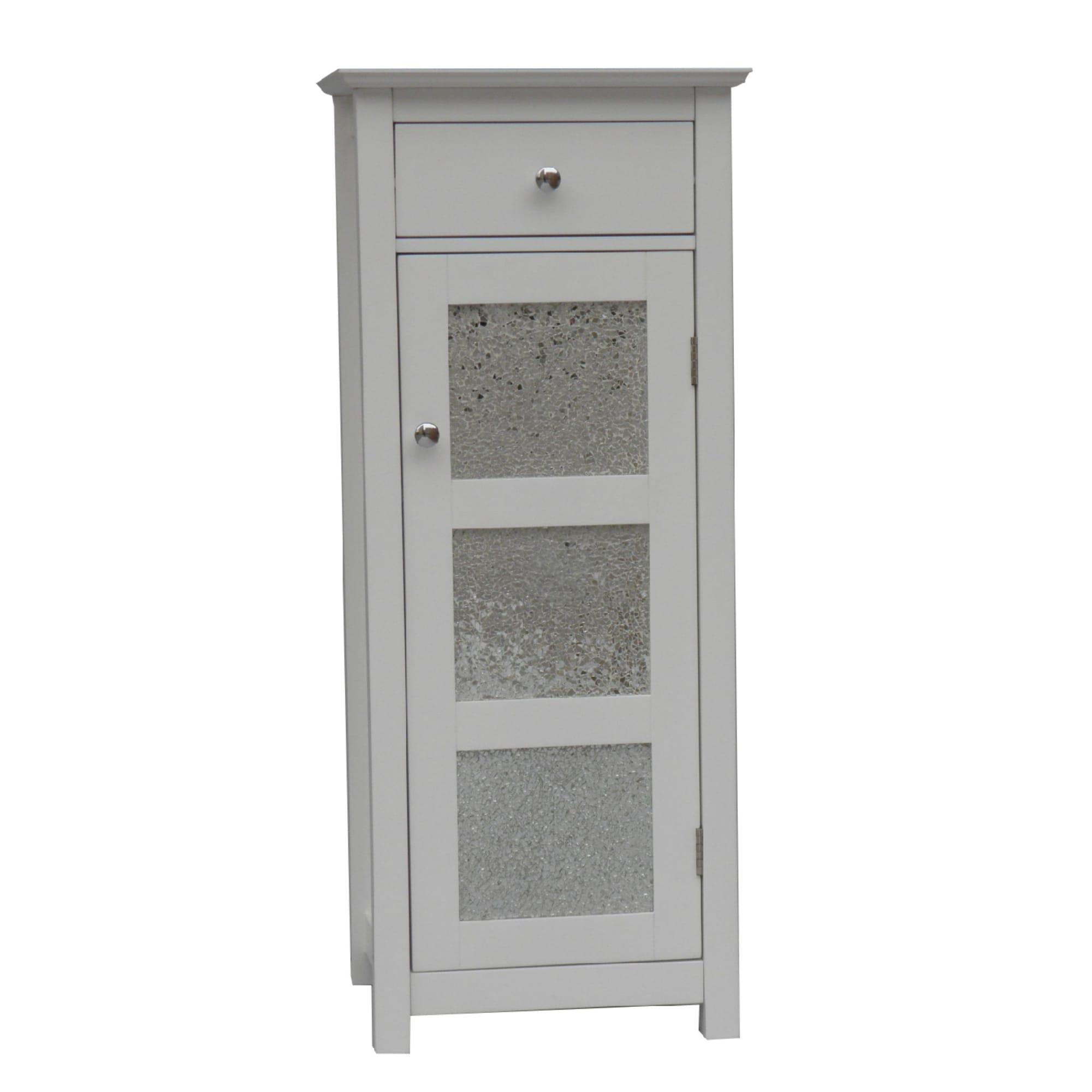 Fifth Avenue Silver Mosaic Floor Cabinet
