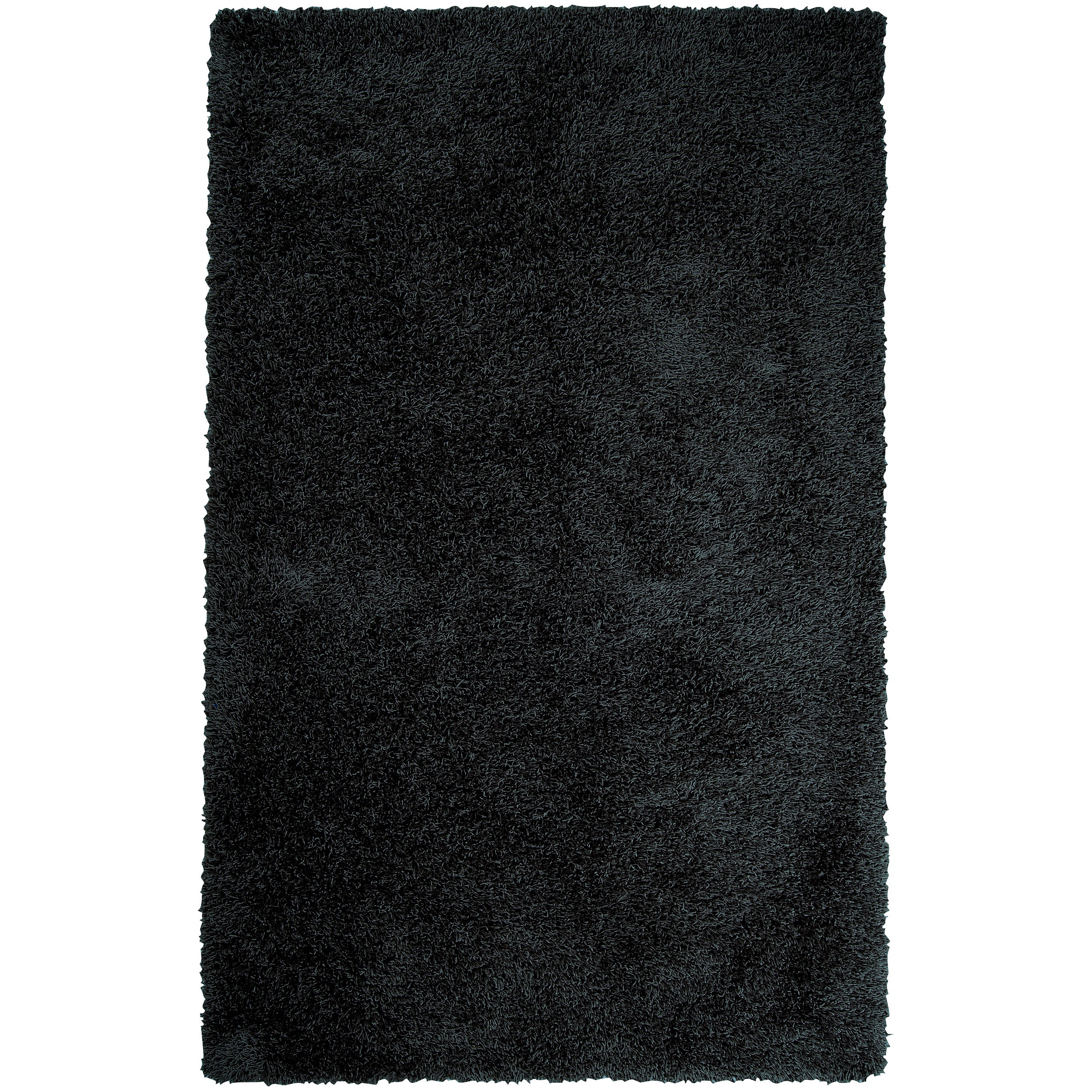 Expertly Woven Black Yaluk Super Soft Shag Rug (9' x 12')