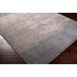 Meticulously Woven Gray Contemporary Cronus Abstract Ombre Rug (6'7 x 9'4) - Thumbnail 1