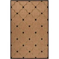 Woven Tan Tewa Indoor/Outdoor Moroccan Lattice Area Rug (8'8 x 12')