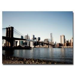 Ariane Moshayedi 'Brooklyn Bridge' Contemporary Canvas Art