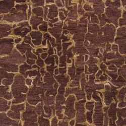 Hand-tufted Contemporary Purple Mastiff New Zealand Wool Abstract Rug (3'3 x 5'3) - Thumbnail 2