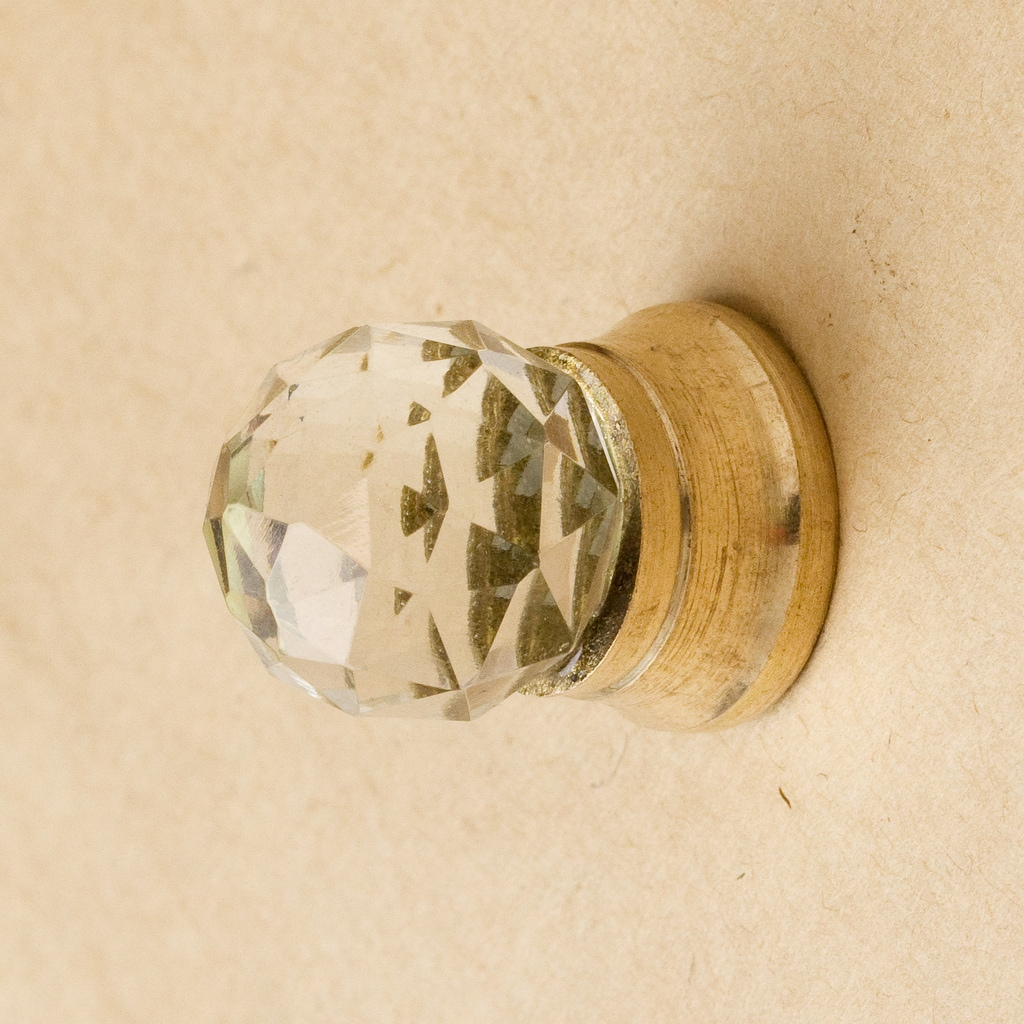 Set of 6 Small Round Faceted Jewelers Knobs (India)