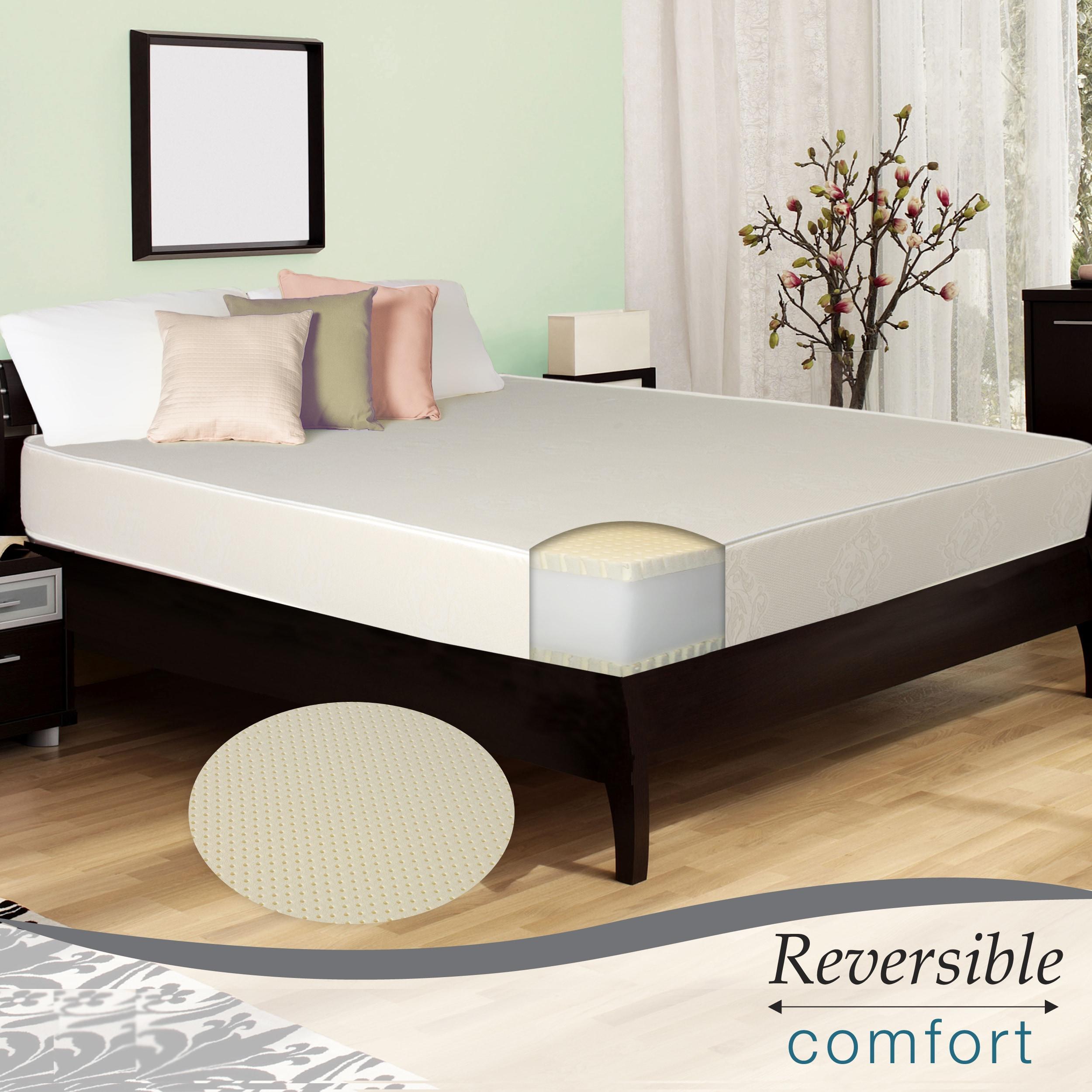 Select Luxury Reversible E.C.O. Latex Foam Medium Firm 10-inch Queen-size Mattress