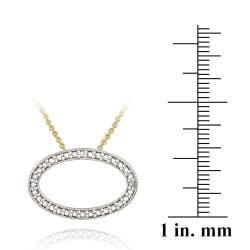 DB Designs 18k Yellow Gold over Sterling Silver Diamond Accent Oval Necklace