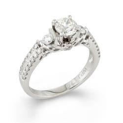 14k White Gold 1ct TDW Round Diamond Engagement Ring (H-I, I1-I2) - Thumbnail 1