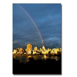Ariane Moshayedi 'Skyline Rainbow' Large Canvas Art