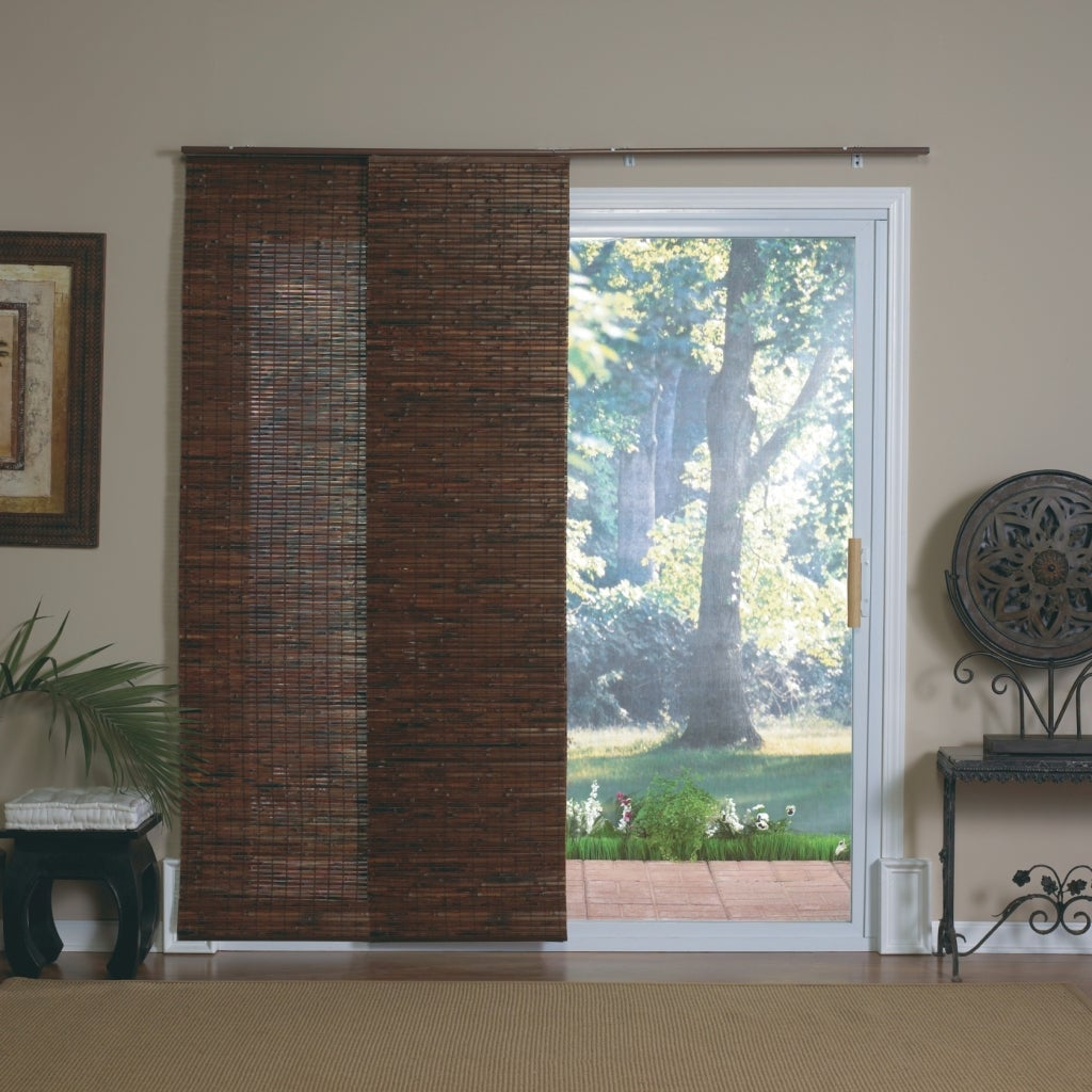 Mahogany Bamboo Windows And Patio Doors Track Panels Free Shipping