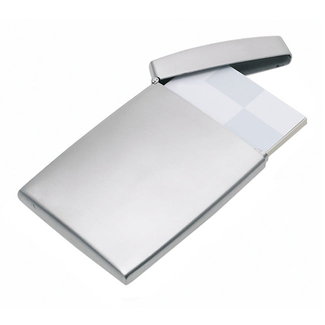 Blomus Silver-colored Recycled-Stainless Steel Business Card Case