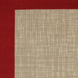 Indoor/ Outdoor Crosshatch Red Rug (5' x 8') - Thumbnail 2
