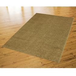 Solid Shag Tan Rug (5' x 8')