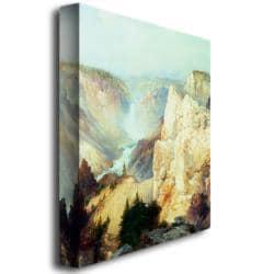 Thomas Moran 'Grand Canyon of Yellowstone' Large Canvas Art - Thumbnail 1