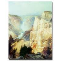 Thomas Moran 'Grand Canyon of Yellowstone' Canvas Art