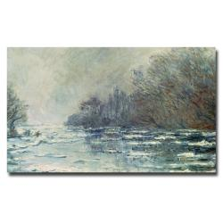 Claude Monet 'The Break up at Vetheuil 1883' Medium Canvas Art