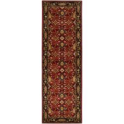 Hand-tufted Red Alatana Wool Rug (2'6 x 8')