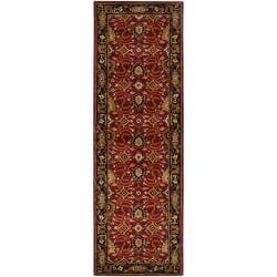 Hand-tufted Red Alatana Wool Rug (3' x 12')