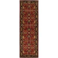 Hand-tufted Red Alatana Wool Area Rug (3' x 12')