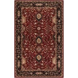 Hand-tufted Red Alatana Wool Area Rug (4' x 6') - Thumbnail 0