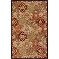 Hand-tufted Red Alum Wool Area Rug (12' x 15')