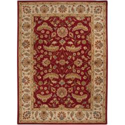 Hand-tufted Red Fria Wool Rug (10' x 14')