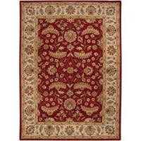 Hand-tufted Red Fria Wool Area Rug (10' x 14')