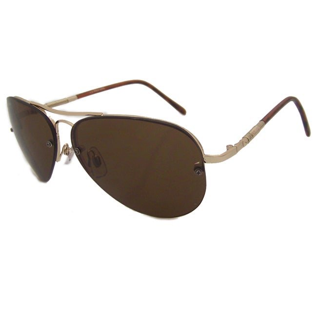 US Polo Association Mens 'Annapolis' Gold Classic Metal Aviator Sunglasses