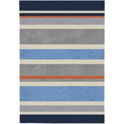 Hand-tufted Grey Tikal Stripe Rug (3' x 5')