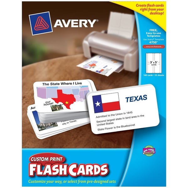 Avery Printable Flash Card