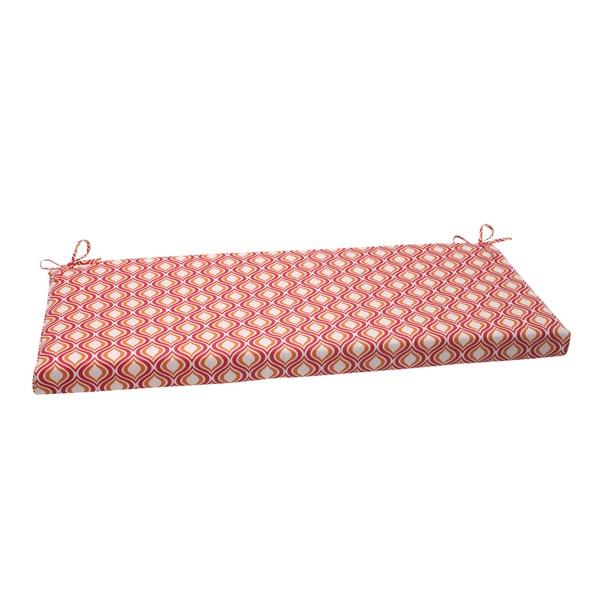 Pillow Perfect Pink/ Orange Outdoor Zinger Bench Cushion