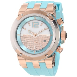Mulco Unisex Glitz Light Blue Strap Swiss Quartz Watch