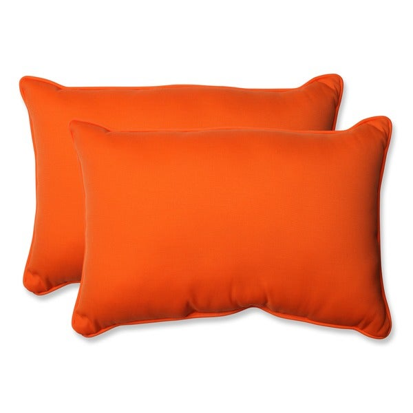 Pillow Perfect Orange Outdoor Sundeck Corded Oversized