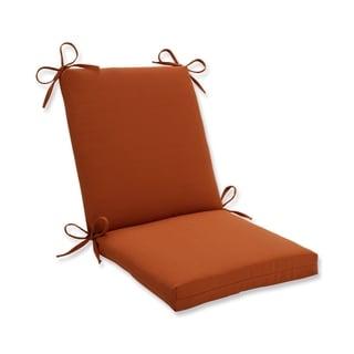 Pillow Perfect Outdoor Cinnabar Squared Chair Cushion in Burnt Orange